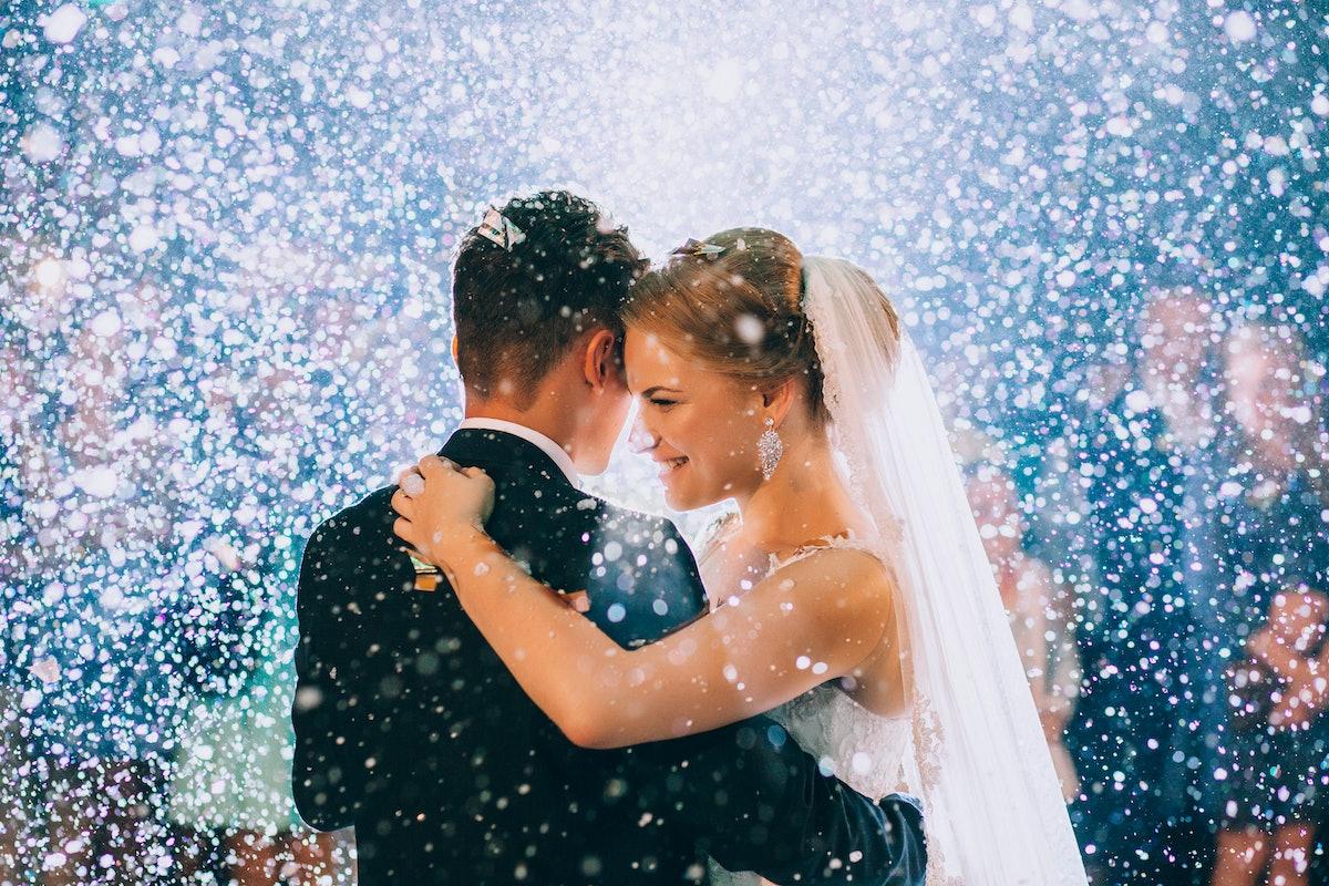First wedding dance of newlywed
