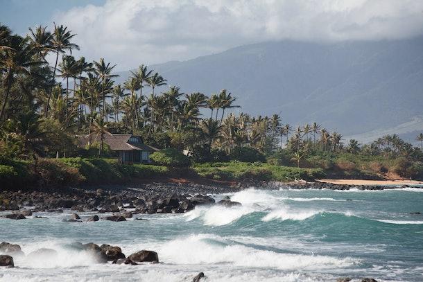 Crashing Waves at Beach near Kahului, Maui