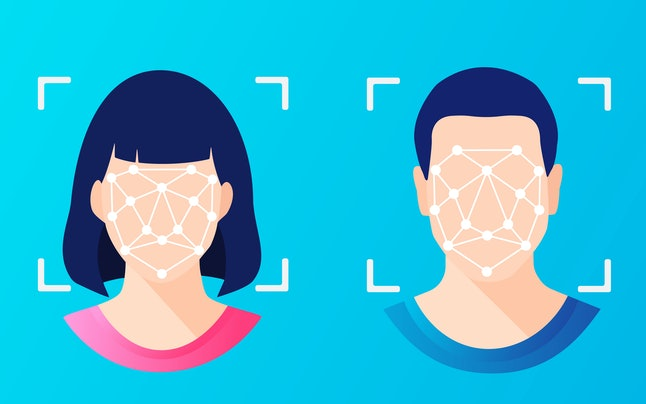 Face ID, facial recognition, biometric identification, personal verification, cyber protection, iden...