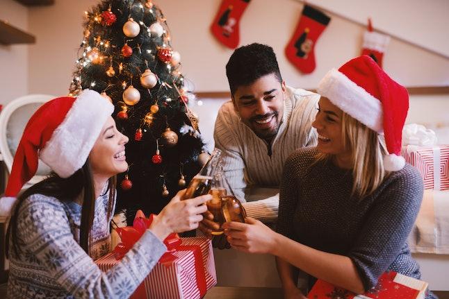 Christmas friends. Christmas people.