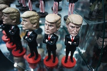 Donald Trump doll display, souvenir for travelers