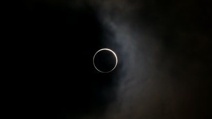 Solar eclipse in totality.