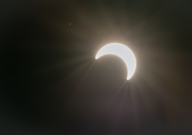 The partial eclipse in December 2019.