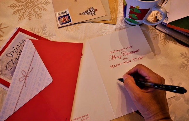 Most Christmas cards can be recycled