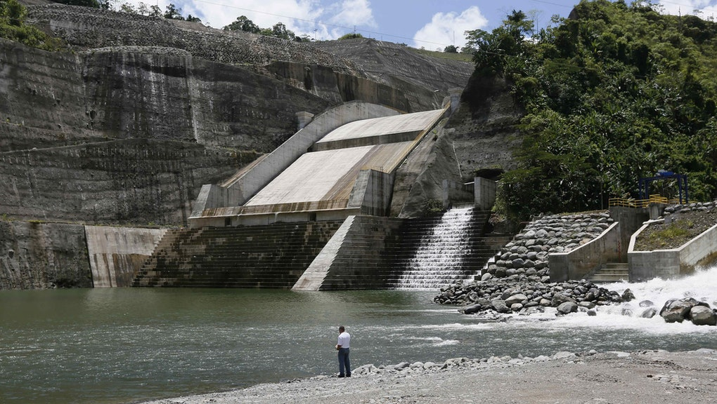 General View of the Largest Hydroelectric Plant in Central America 'Reventazon' in San Jose Costa Rica 16 September 2016 Costa Rica San Jose
