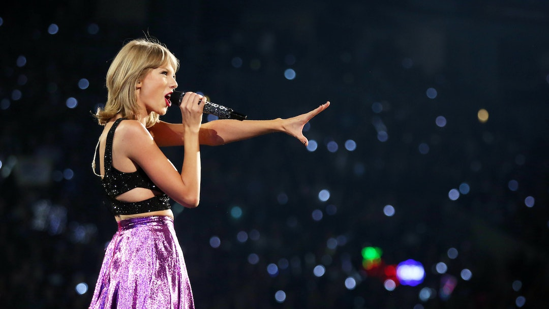 "Taylor Swift performs during the ""1989"" world tour at Staples Center, in Los Angeles"