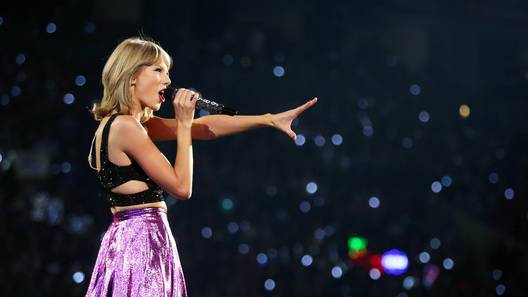 """Taylor Swift performs during the """"1989"""" world tour at Staples Center, in Los Angeles"""