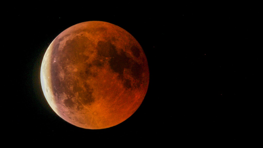 The blood moon captured on Jul 27th, 2018, in Switzerland