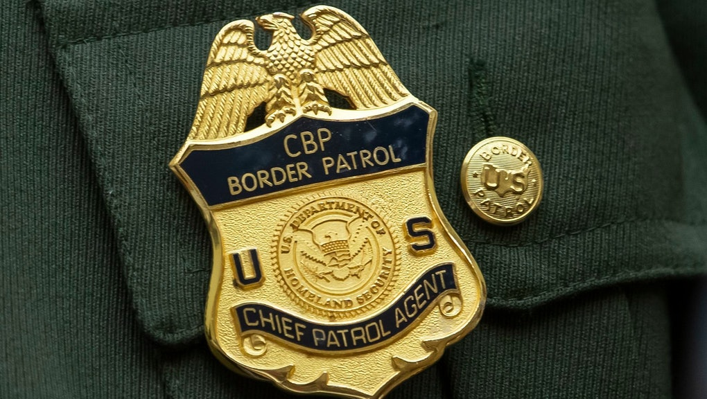 The badge of Brian Hastings, chief of Law Enforcement Operations at the US Border Patrol, as he testifies before the House Judiciary Committee at the Rayburn House Office Building at the Capitol in Washington, DC, USA, 25 July 2019. The hearing was on the topic 'Oversight of Family Separation and US Customs and Border Protection Short-Term Custody under the Trump Administration.'