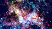 The explosion supernova. Bright Star Nebula. Distant galaxy. New Year fireworks. Abstract image. Ele...