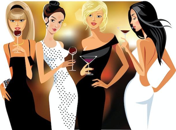 lady cocktail, party, glamorous fashion evening dresses, beautiful fashion girls