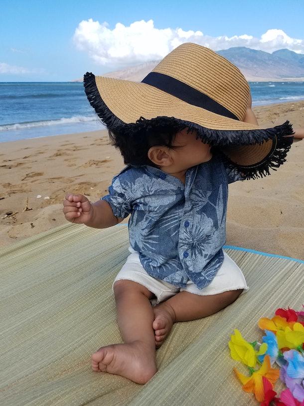 baby and beach