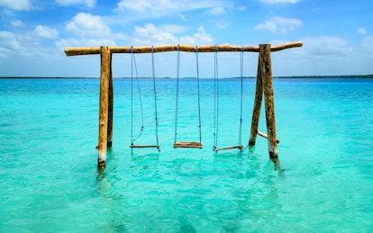 Lake Bacalar, Quintana Roo, Mexico.