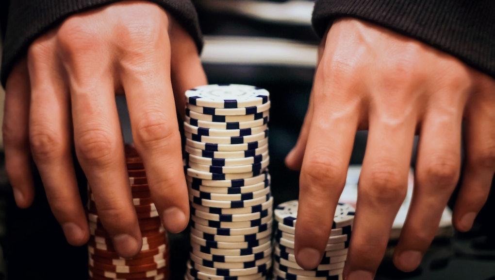 Poker chips, casino, wins