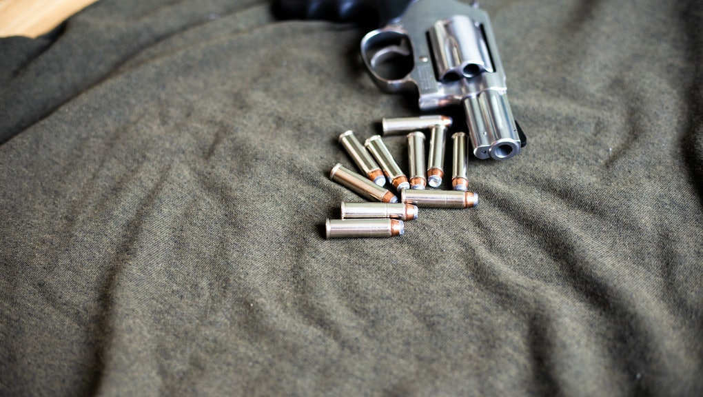 357 magnum conceal revolver gun with bullet home protection concept