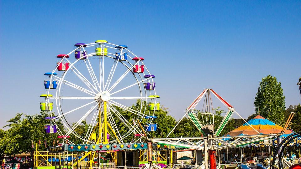 Amusement Rides At Local County Fair