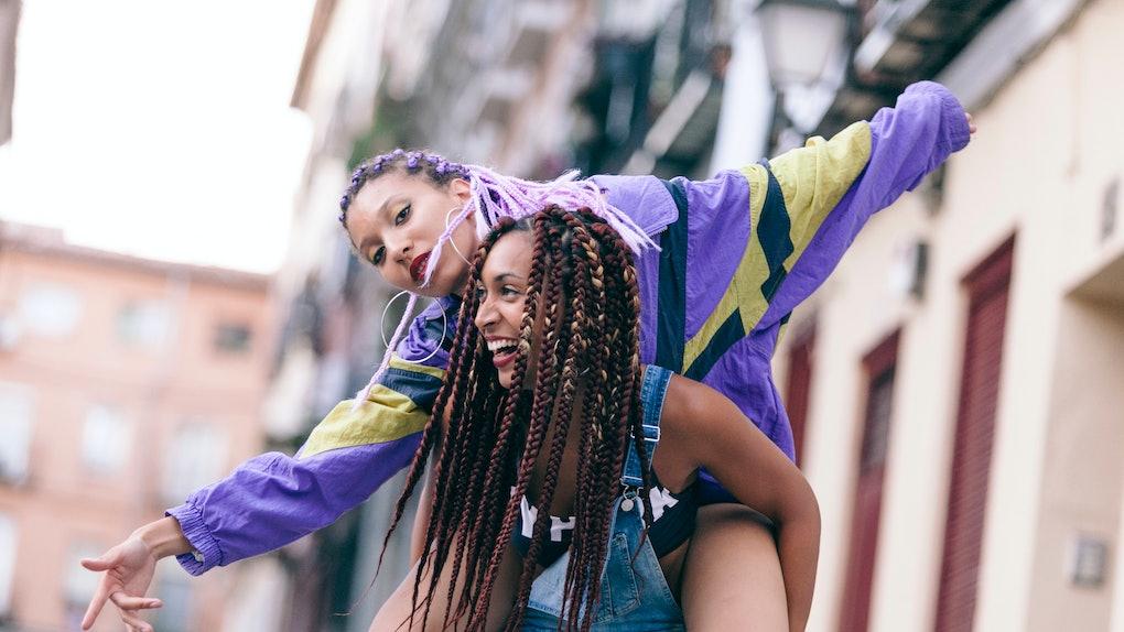 couple of lesbian girls feeling free