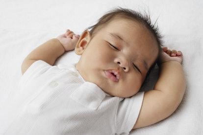 Closeup of sleeping baby.