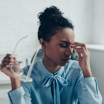 High blood pressure may cause pulsating headaches.