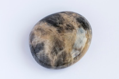 Dark moonstone gemstone