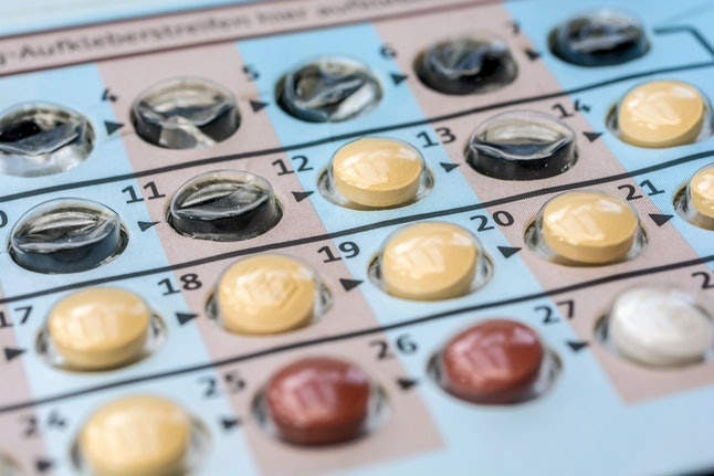 Packaging birth control pills as a hormonal contraceptive