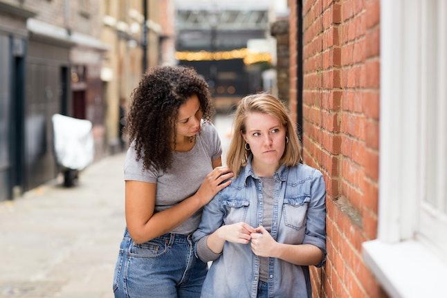 lesbian couple having an argument