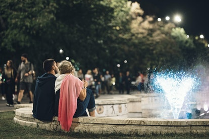 relationship goals, couple date night in the city square