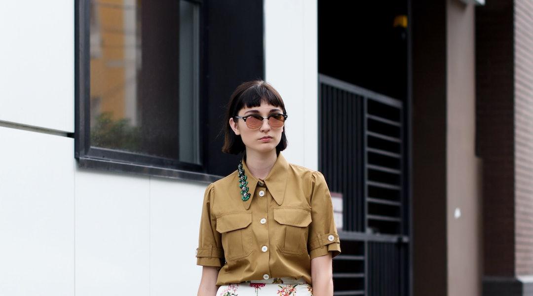 Street style and fashion photo. Fashion week , stylish look.