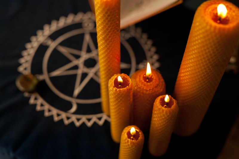 Handmade wax Candles for ritual cleansing