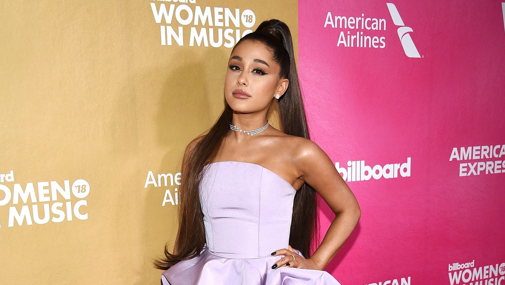 Ariana Grande attends the 13th annual Billboard Women in Music event at Pier 36, in New York
