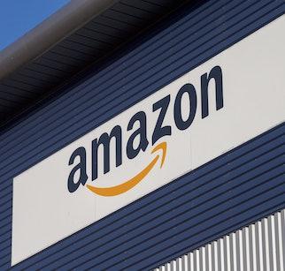 Staff at the Amazon fulfilment centre in Hemel Hempstead, Hertfordshire, prepaing for Black Friday