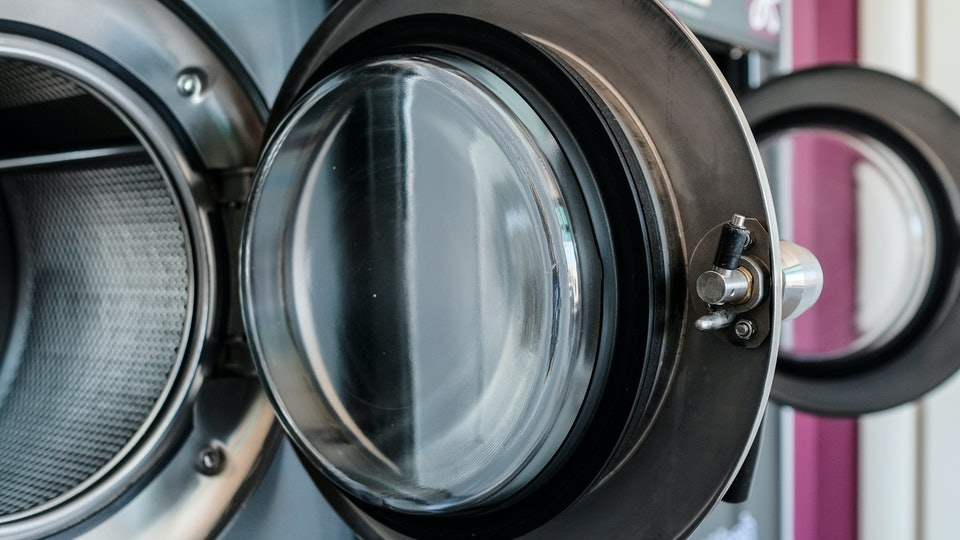 The image of a professional washing machine