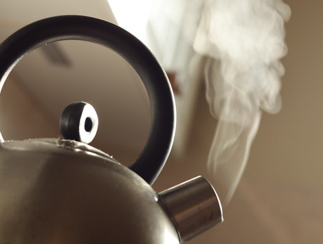steam coming out of the kettle