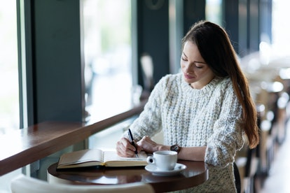 Writing a letter or a poem that expresses your feelings can help you ease into doing it in person.