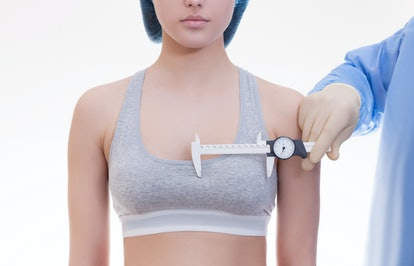 The concept of plastic surgery, measurement of breast size for the selection of the implant