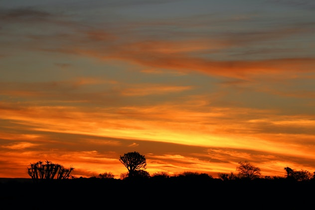 sunset in Namibia - Namibia Africa