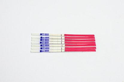 7 days of LH ovulation test strip