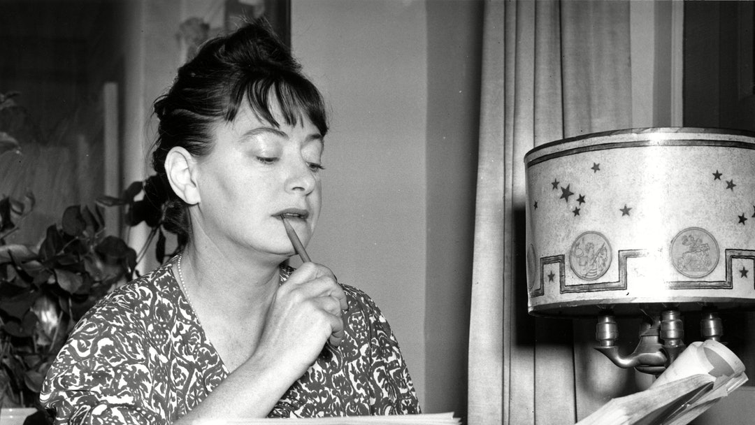 DOROTHY PARKER Dorothy Parker is shown at the typewriter on