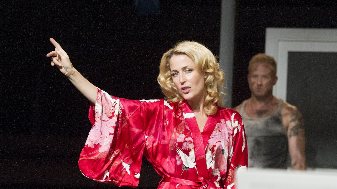 Gillian Anderson as Blanche DuBois, Ben Foster as Stanley