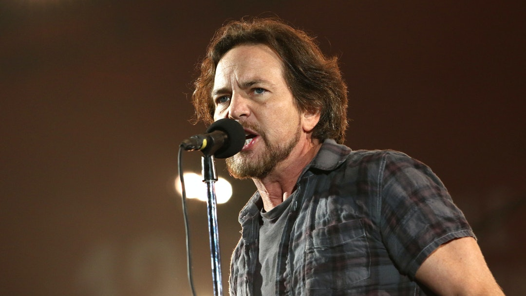 "Eddie Vedder, of Pearl Jam, performs at the Global Citizen Festival in Central Park in New York. Ten-year-old Noah Keeley of Bar Harbor, Maine, was invited onstage to play with Pearl Jam last week in Quebec City. He sat on a stool and played along with the Pearl Jam song, ""Sad."" Vedder invited him onstage to play after seeing the boy in the audience May 5 at the Videotron Centre"