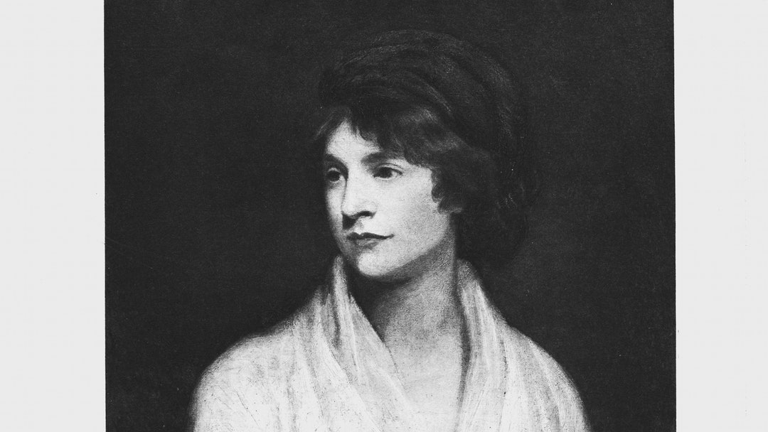 Mary Wollstonecraft (1759-1797) Anglo-Irish writer and feminist. Wife of William Godwin. Mother of Mary Shelley. Lithograph after portrait by John Opie.