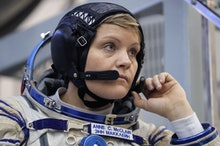 Member of the International Space Station (ISS) expedition 58/59, NASA astronaut Anne McClain attend...