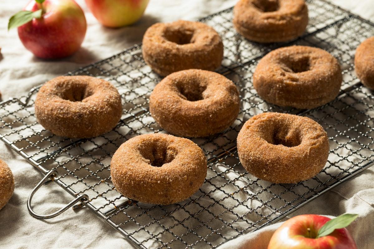 Homemade Apple Cider Donuts with Cinnamon Sugar