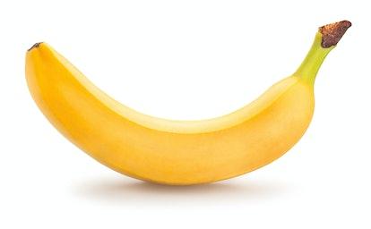 single banana isolated