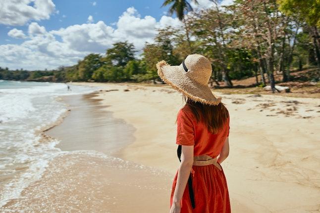 woman on the beach summer vacation sun
