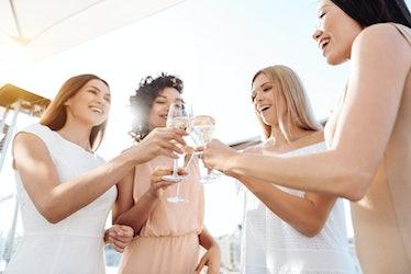 Joyful happy women having a celebration