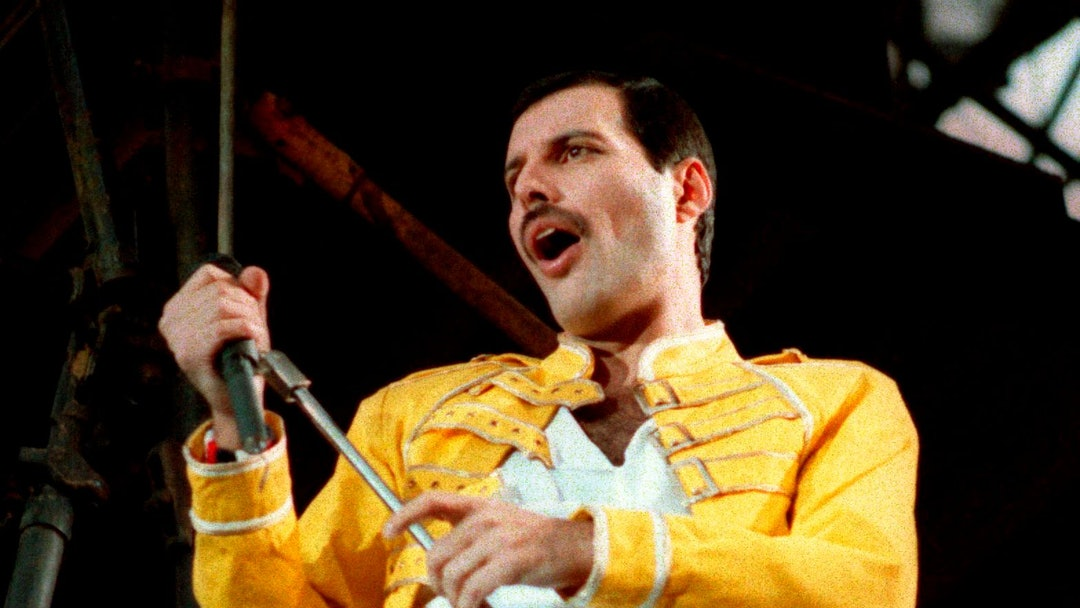 "Queen lead singer Freddie Mercury performs, in Germany. A previously unheard and unreleased song by Mercury was released . Universal Music announced that the track, ""Time Waits for No One,"" was originally recorded in 1986 for the concept album of the musical ""Time"" with musician Dave Clark. A video to accompany the song was also released and includes unseen performance footage of Mercury. It was recorded in April 1986 at London's Dominion Theatre"