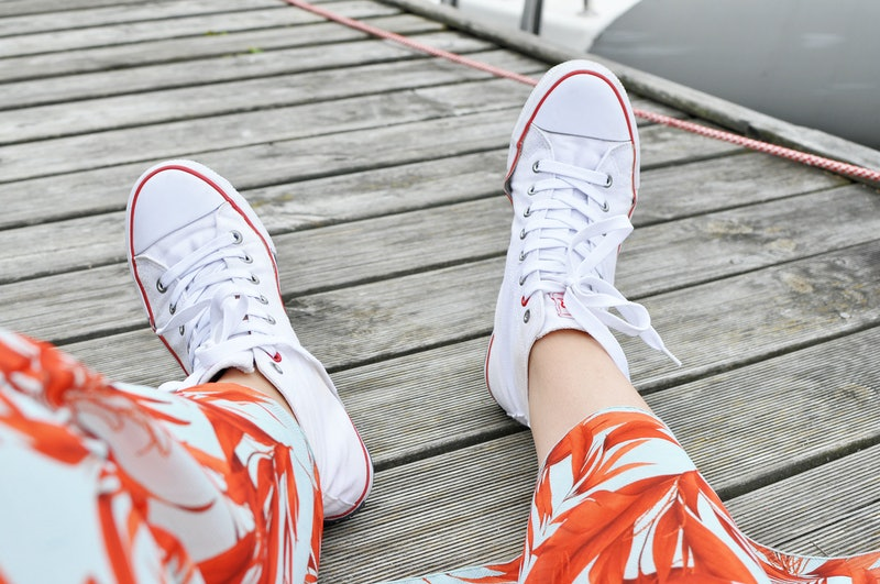 White trainers - summer photography.