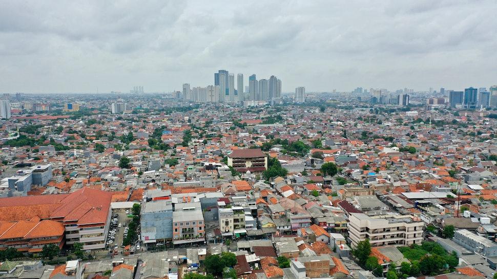 Jakarta Aerial City View Landscape