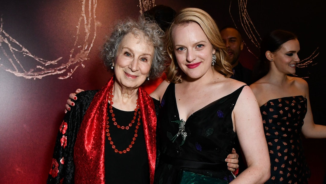 Margaret Atwood and Elisabeth Moss